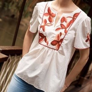 embroidered fable  madewell top